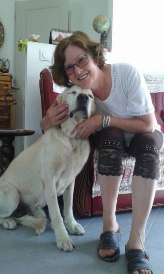 Août 2015 - Balou chez Evelyne sa nouvelle famille d'accueil